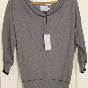 New w/tags Michael Stars Dolman Pullover-Gray/$138